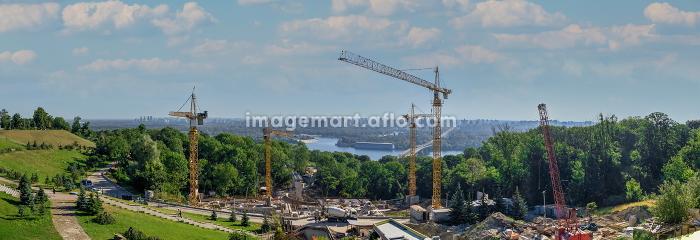 Top view of Kiev, Ukraineの販売画像
