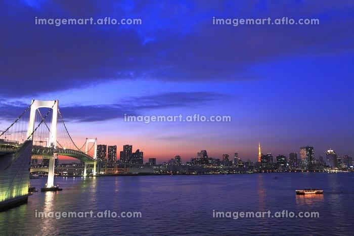 レインボーブリッジ夕焼け空パノラマ