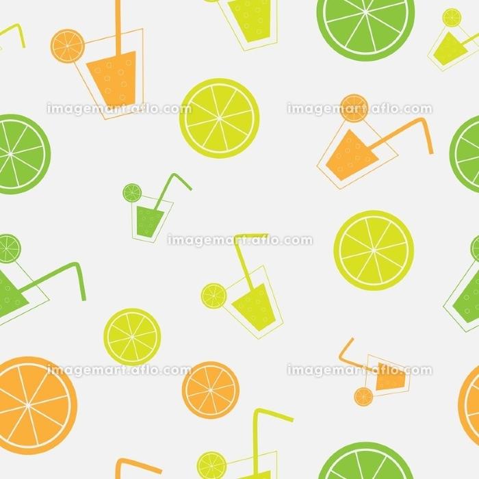 citrus Cocktail seamless pattern background vector illustration