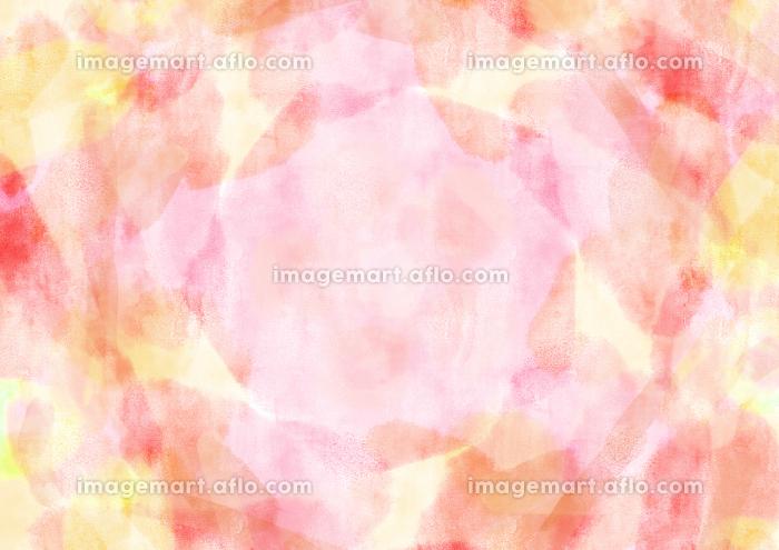 水彩調 アブストラクト背景 ピンクの販売画像