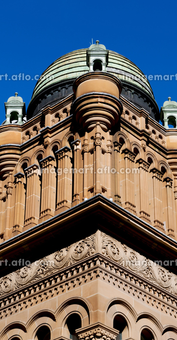 in  australia sydney the antique queen victoria building and the dome in the sky