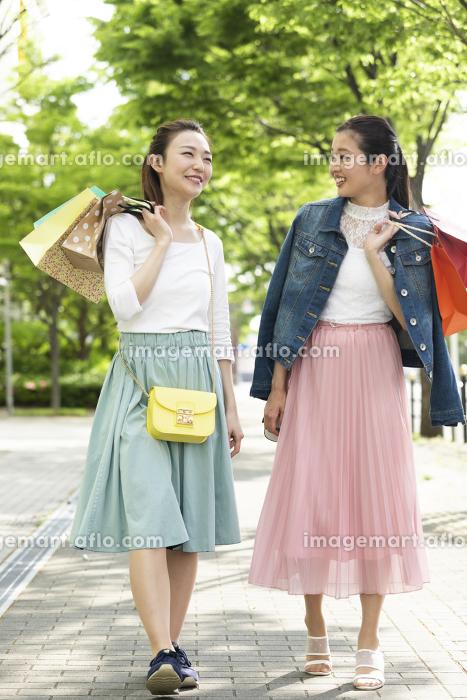 ショッピングを楽しむ女性2人の販売画像