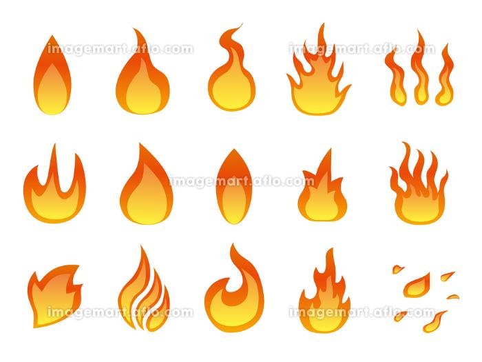火 炎のアイコンマーク素材集の販売画像