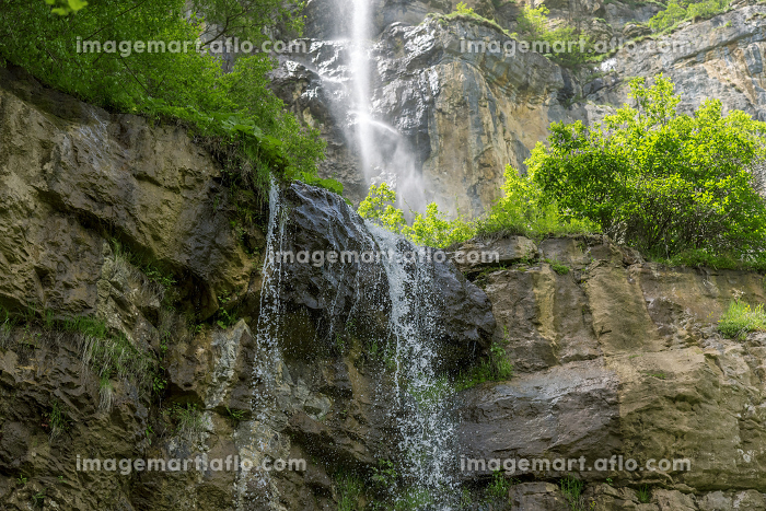 Waterfall in Rila Mountains at summer.の販売画像