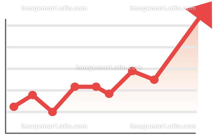イラスト素材 企業 業績 財政状態 株価 UP 日経 NYダウの販売画像
