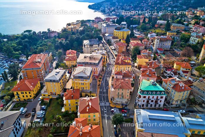 Main street of Opatija architecture aerial viewの販売画像