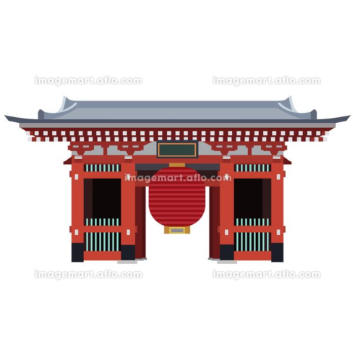 イラスト素材 日本の名所 東京 浅草 雷門 ベクター ランドマークの販売画像