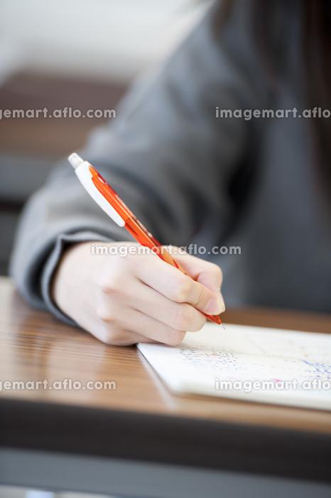 勉強をする中学生の手元の販売画像