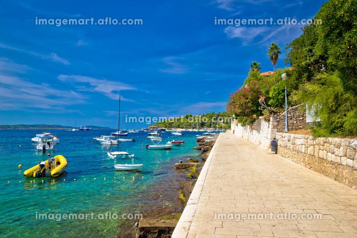 Island of Hvar walkway by the seaの販売画像