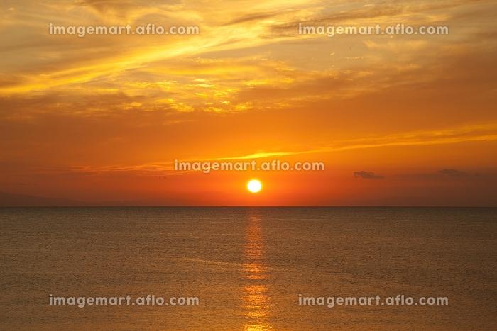 海と夕日 千葉県の販売画像
