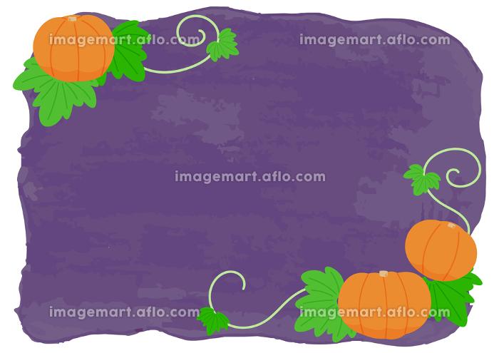 ハロウィンのカボチャフレームイラストの販売画像