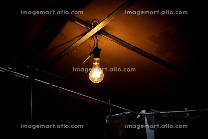 屋根に吊るされた裸電球 1841の販売画像