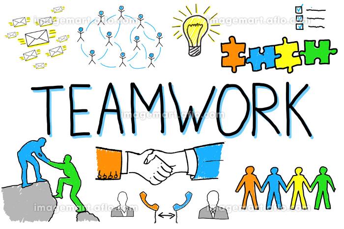 Illustrative Diagram Of Teamwork Conceptの販売画像