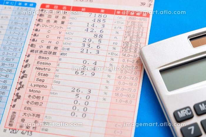 血液検査 結果表 診断結果 健康診断 メタボリックシンドロームの販売画像