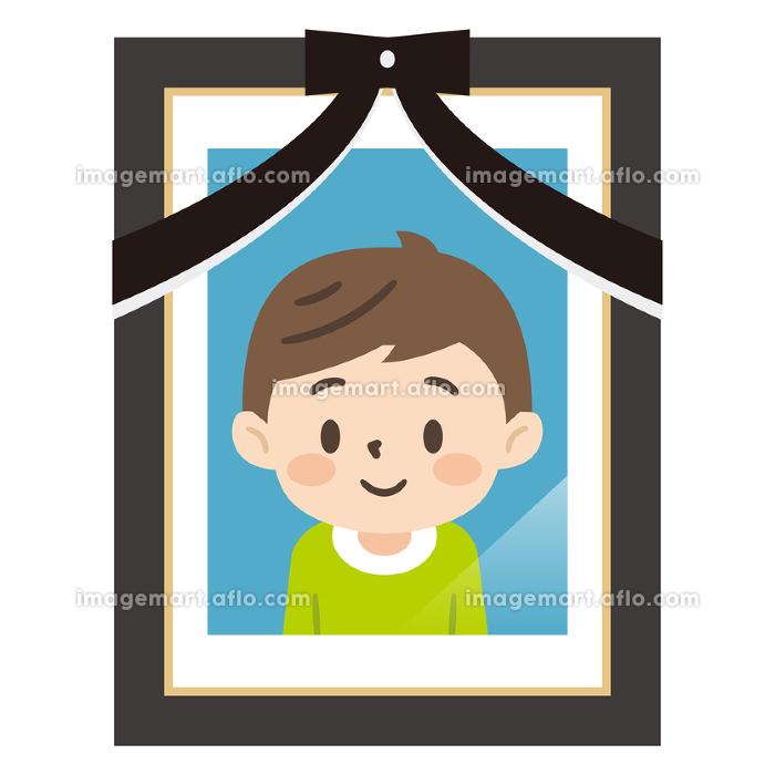 男の子の遺影写真の販売画像