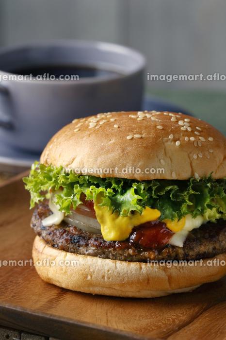 ハンバーガーの販売画像