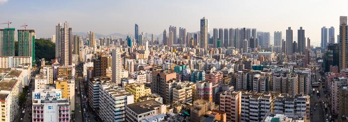 Sham Shui Po, Hong Kong, 11 September 2018:- Hong Kong city, panoramic shotの販売画像