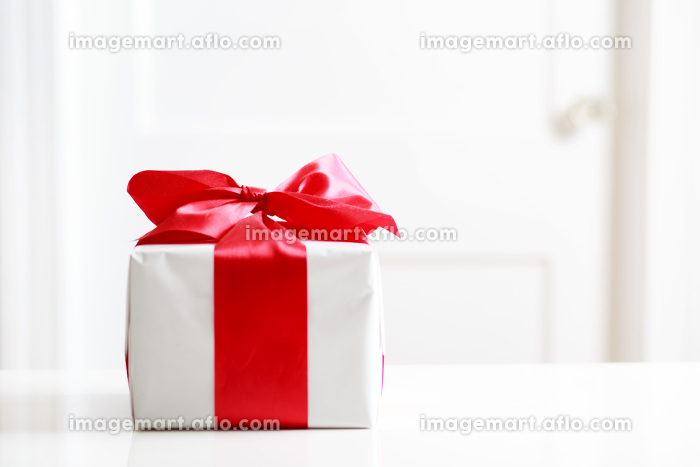 Gift box on table