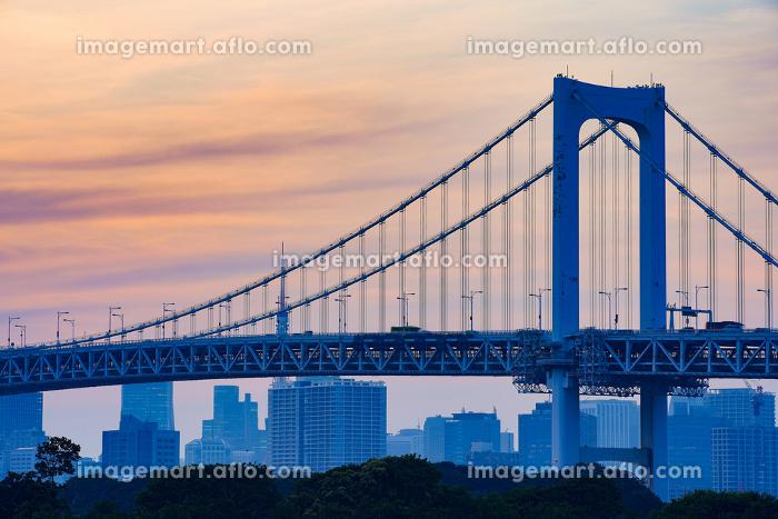 東京・レインボーブリッジと東京タワーの販売画像