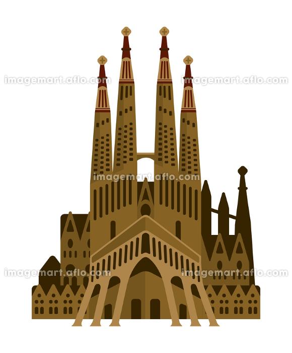スペイン / サグラダファミリア   世界の有名な建築物(遺跡・建物・世界遺産・ランドマーク)の販売画像