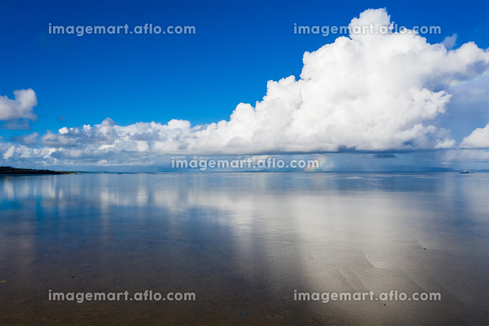 Sky and sea in ishigaki island of Japan