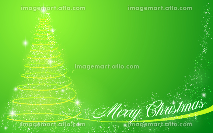 キラキラしたクリスマスツリーのメッセージカの販売画像