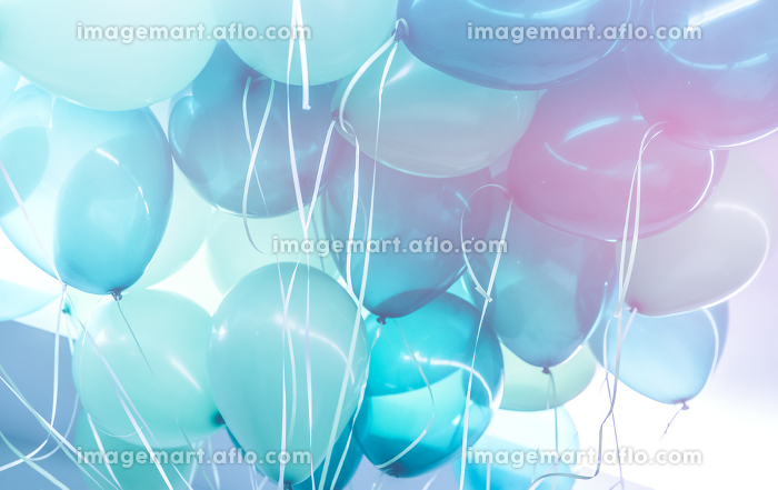 Blue balloons background