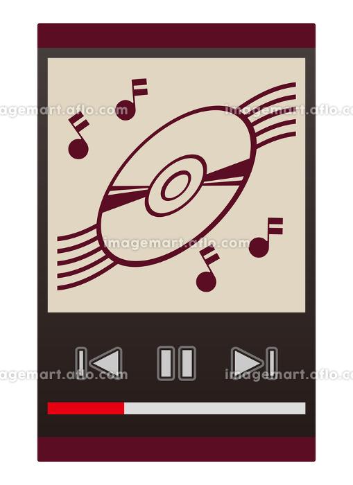 音楽再生画面の販売画像