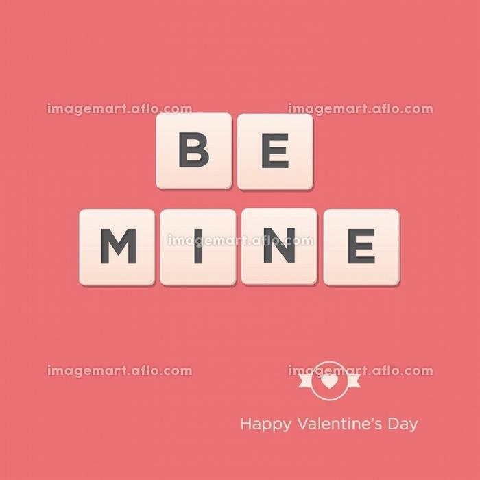 Be Mine. Valentines day card. Editable vector design.