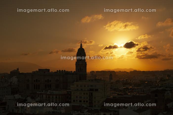 Sun Setting over Malaga Spainの販売画像
