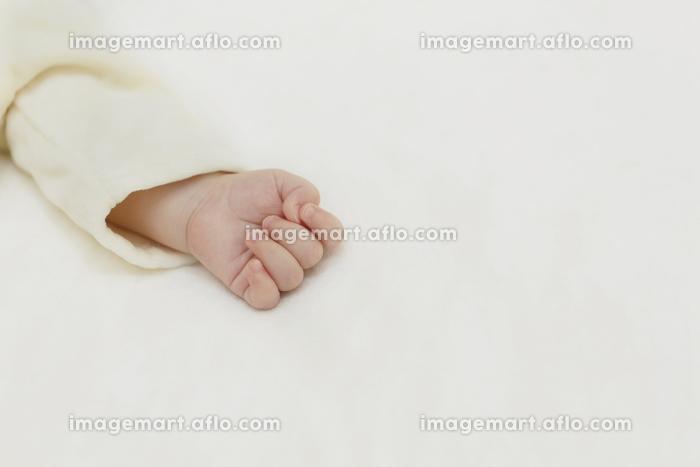 眠る赤ちゃんの手の販売画像
