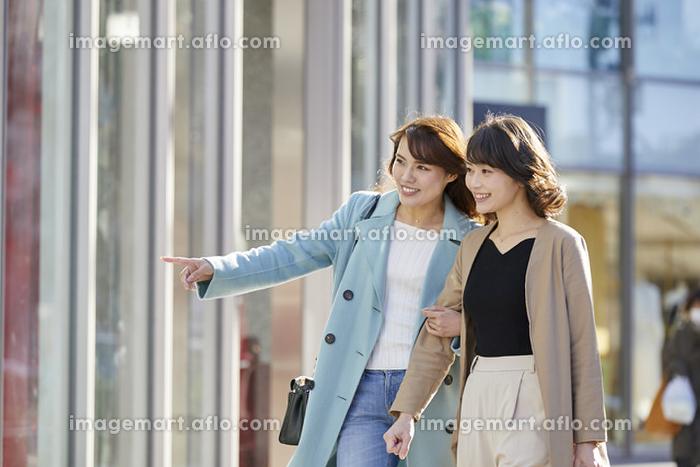 ショッピングする日本人女性の販売画像