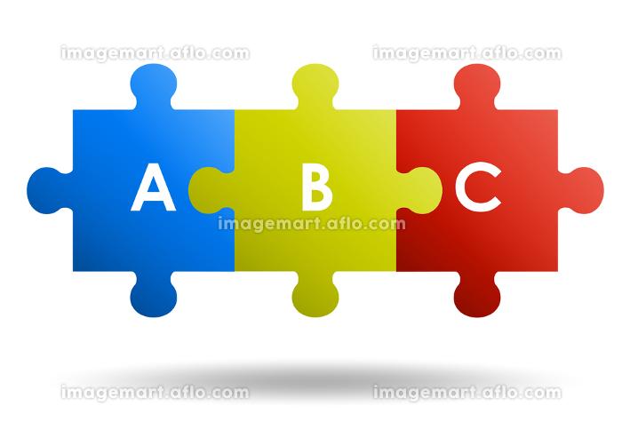 繋げた3ピースパズルの販売画像