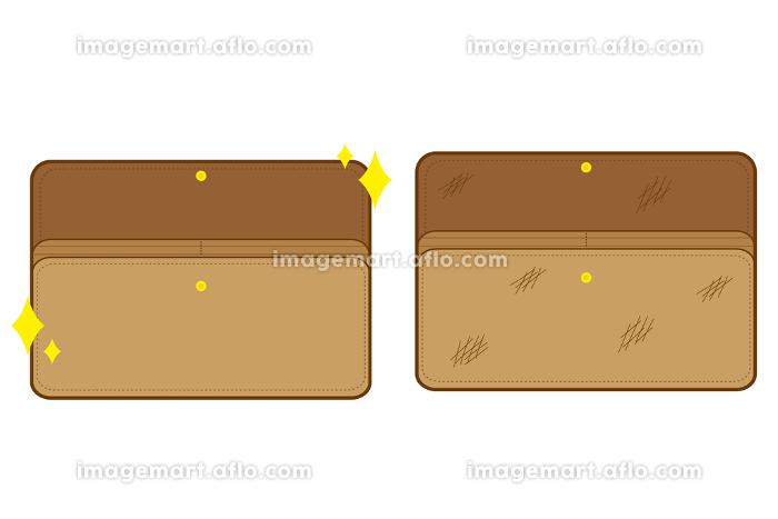 綺麗なお財布と汚いお財布の素材セットの販売画像