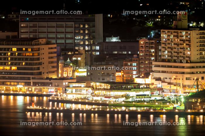 門司港レトロ展望室から見る下関観光地の夜景の販売画像
