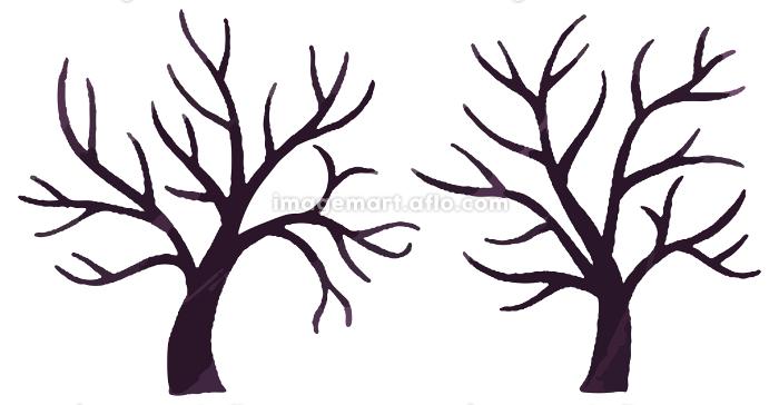 木 枝 ハロウィン イラストの販売画像
