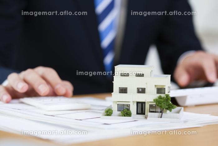 住宅模型と図面の販売画像