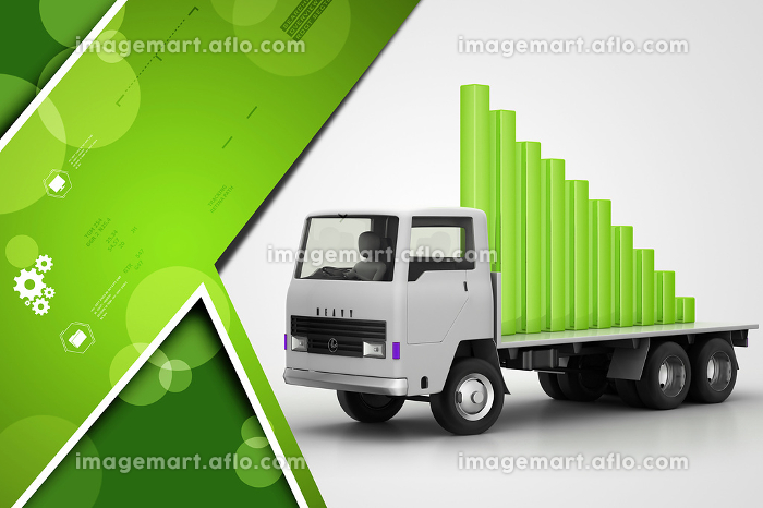Transportation of business graph in  truckの販売画像