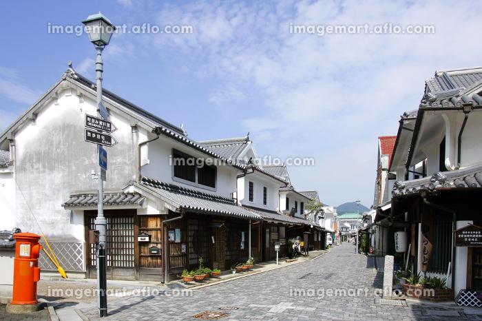 柳井の白壁の街並み 山口県柳井市の販売画像
