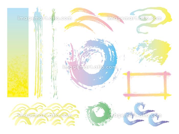 筆で描いた和風背景の販売画像
