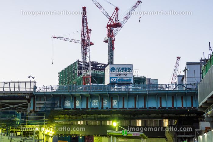 渋谷 再開発 早朝 2017年2月の販売画像
