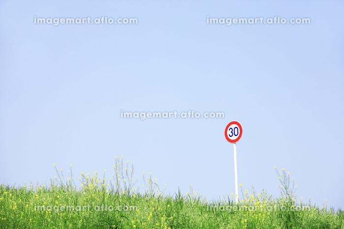 草原と標識の販売画像