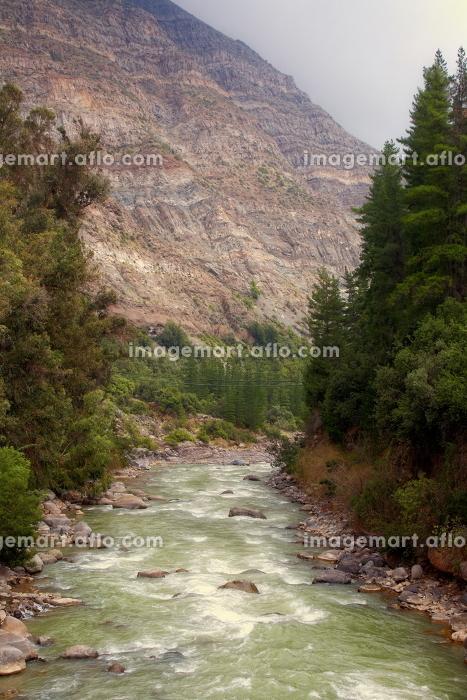 Cascada de las Animas in Cajon del Maipo near Santiago, Chileの販売画像