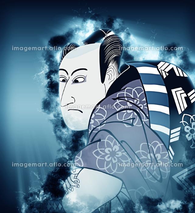浮世絵 歌舞伎役者 その5 煙バージョンの販売画像