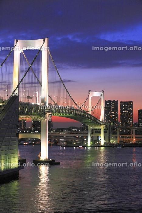 東京港日没空パノラマの販売画像