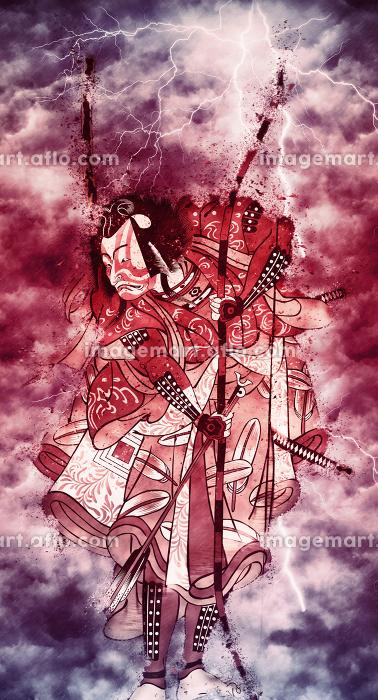 浮世絵 歌舞伎役者 その66 赤い嵐バージョンの販売画像