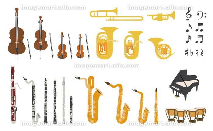オーケストラ基本編成楽器のベクターイラスト の販売画像