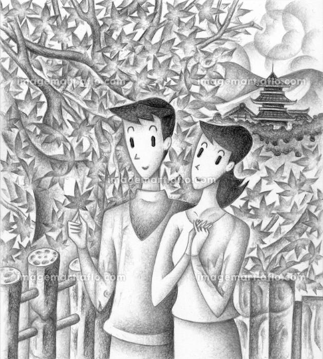 秋の味覚の隠し絵・秋の風景の販売画像