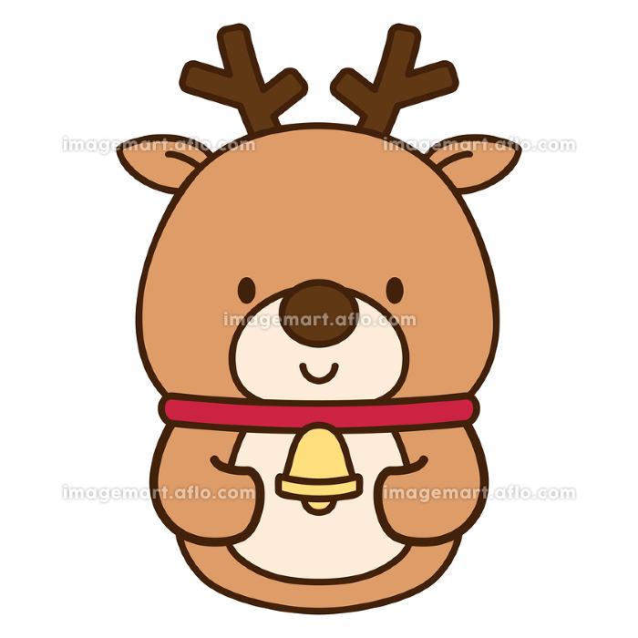 かわいいトナカイのクリスマス向けキャラクターの販売画像