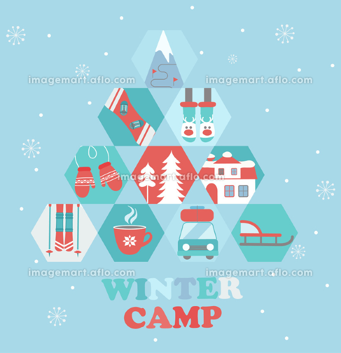 Christmas Holiday and Travel themed Camp poster.の販売画像